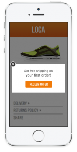 Retail-in-app-message-example